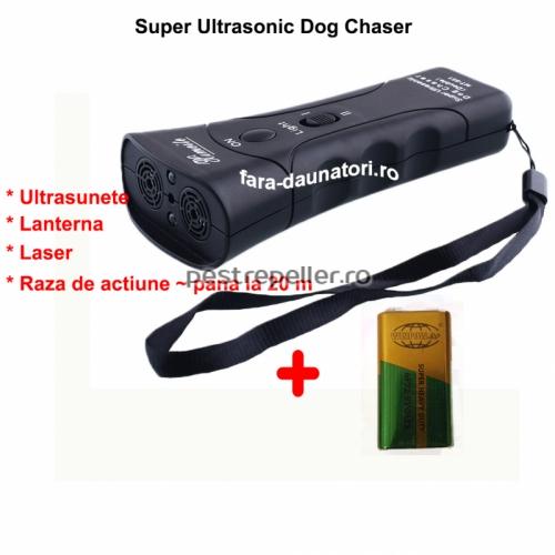 Aparat cu ultrasunete impotriva cainilor Super Ultrasonic Dog Chaser